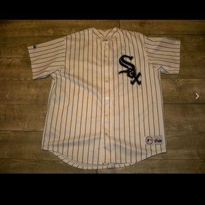 Vtg CHICAGO WHITE SOX Majestic Stitched Jersey XL